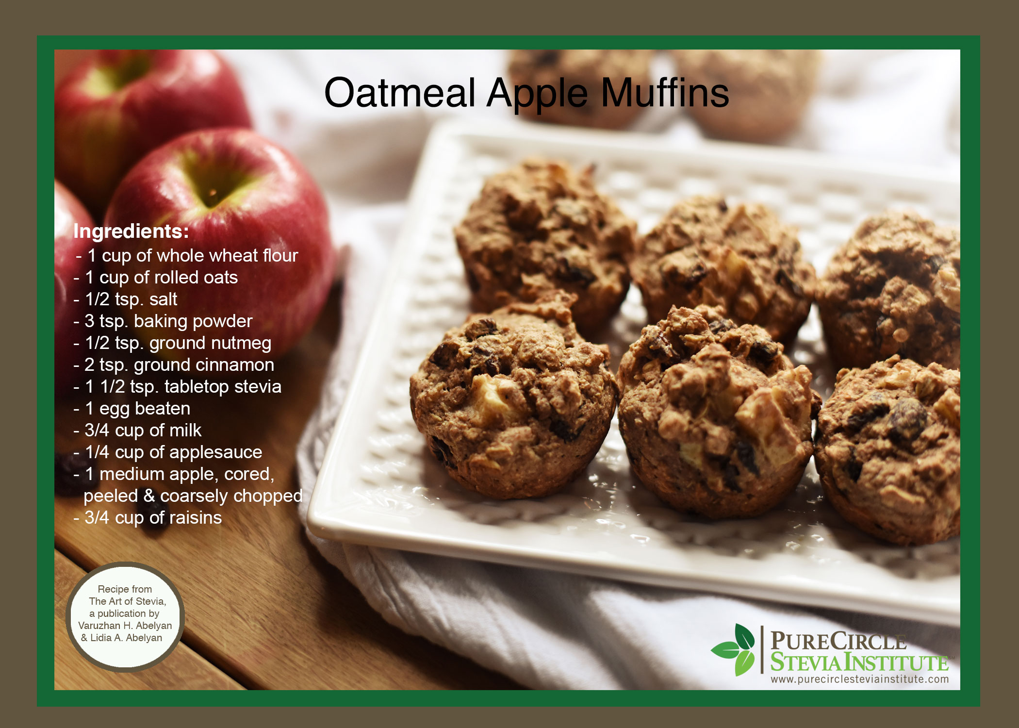 Oatmeal Apple Muffins Front