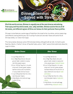 Dinner Dilemma Solved with Stevia -Chinese Dinner PCSI FINAL2016