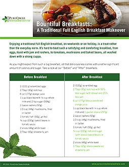 Traditional English Breakfast Makeover with Stevia -English Breakfast PCSI FINAL2016